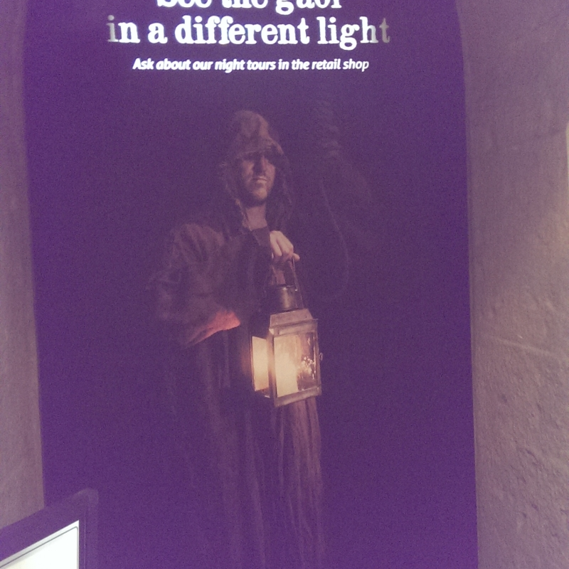 Old Melbourne Gaol – Night Tours' promotional sign