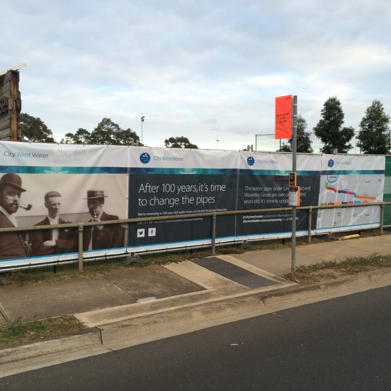 Hoarding for City West Water